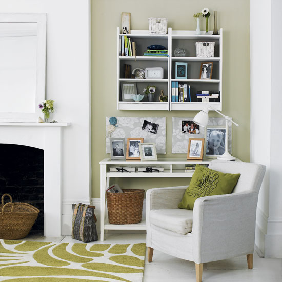 Astuce n 6 valoriser des niches murales le petit monde for Home office in living room ideas